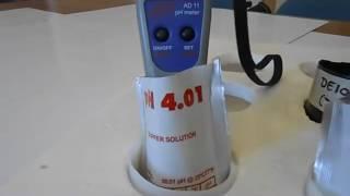 Βαθμονόμηση (καλιμπράρισμα) 2 σημείων για το πεχάμετρο pH Adwa AD11
