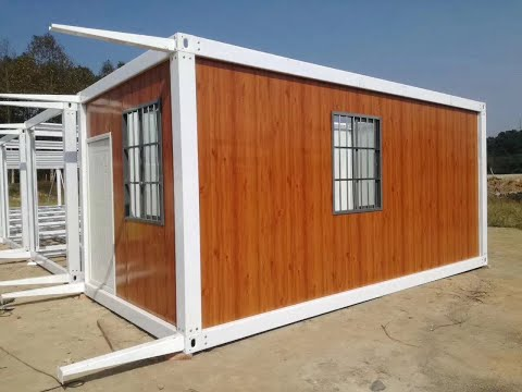 prefab shipping container house homes frame installation video