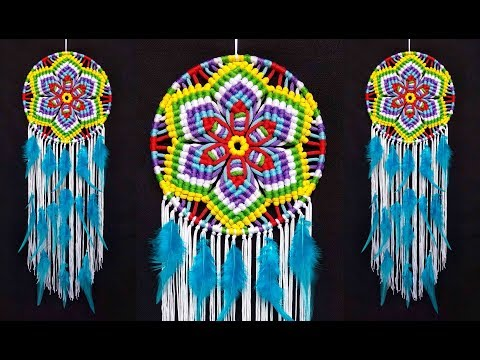 Mandala | Huichol Eye of God Wall Hanging | Mandala Macrame Dream Catcher step by step tutorial