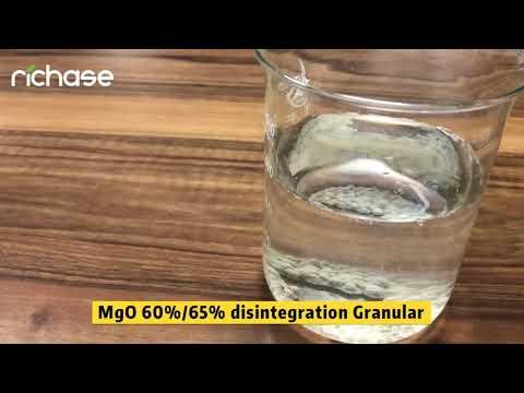 Magnesium Oxide MgO: 60% Or 65% Disintegration Granular