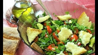 Необычный САЛАТ ФАТТУШ/ Арабская кухня