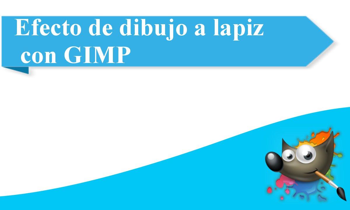 Efecto de dibujo a lapz con GIMP  YouTube