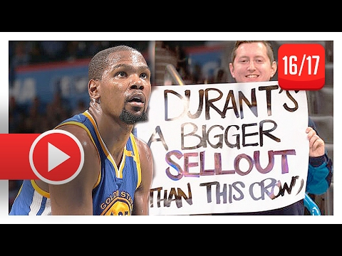 Kevin Durant Full Highlights vs Thunder (2017.02.11) - 34 Pts, 9 Reb, Back in Oklahoma!