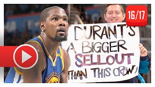 Kevin Durant Full Highlights Vs Thunder  2017.02.11  - 34 Pts, 9 Reb, Back In Ok