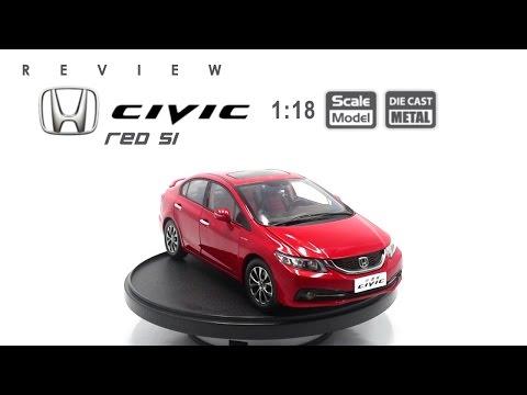 โมเดลรถ HONDA Civic (Red Si) ขนาด scale 1:18