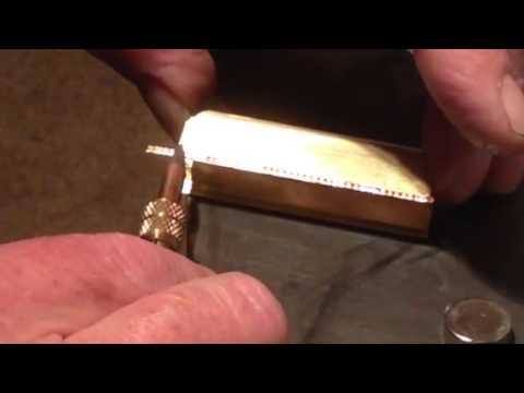 Soldering white metal with a RSU