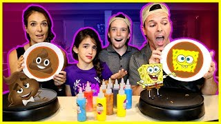 PANCAKE ART CHALLENGE!! - PARENTS EDITION
