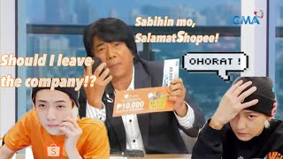 #EXO-SC #SALAMATSHOPEE   SEHUN and CHANYEOL saying SALAMAT SHOPEE