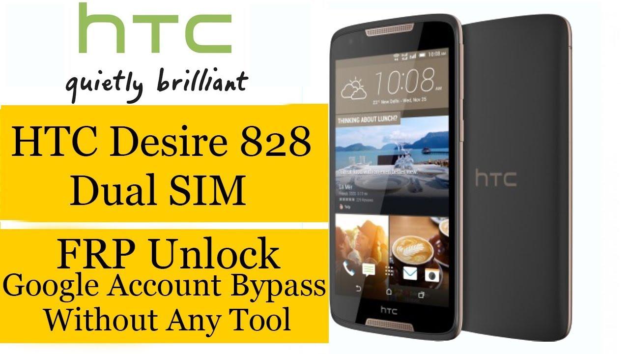 HTC Desire 828 Dual SIM FRP Unlock Google Account Bypass