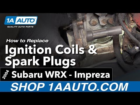 How to Replace Install Spark plugs and Ignition Coils 04 Subaru Impreza WRX