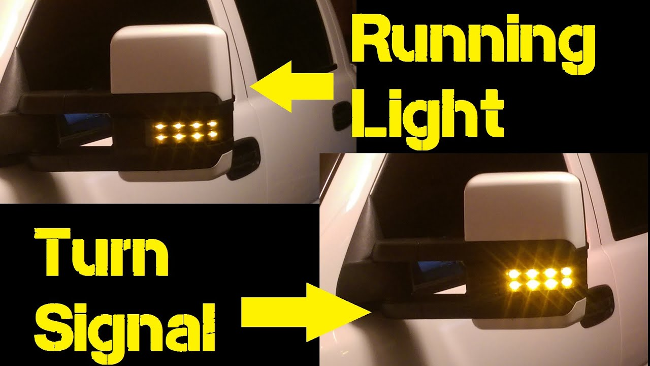 how to  dual function led tow mirrors