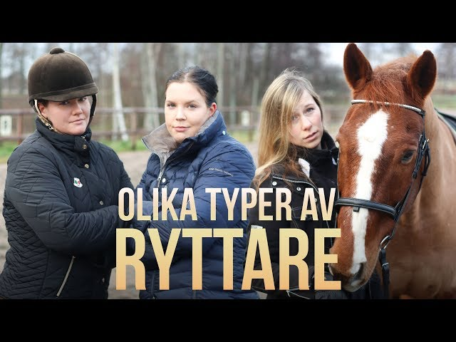 OLIKA TYPER AV RYTTARE