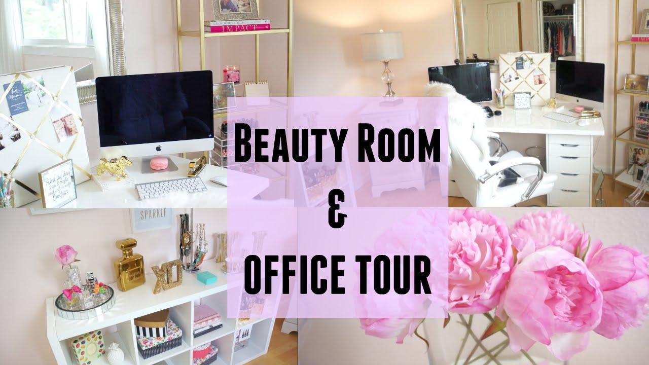 My Office Beauty Room Tour Ikea Tjmaxx Target Youtube