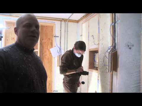 Mobile Test Lab: Dense pack blown-in cellulose insulation