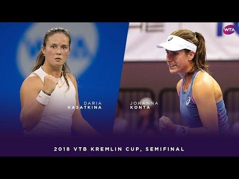 Daria Kasatkina vs. Johanna Konta | 2018 VTB Kremlin Cup Semifinal | WTA Highlights