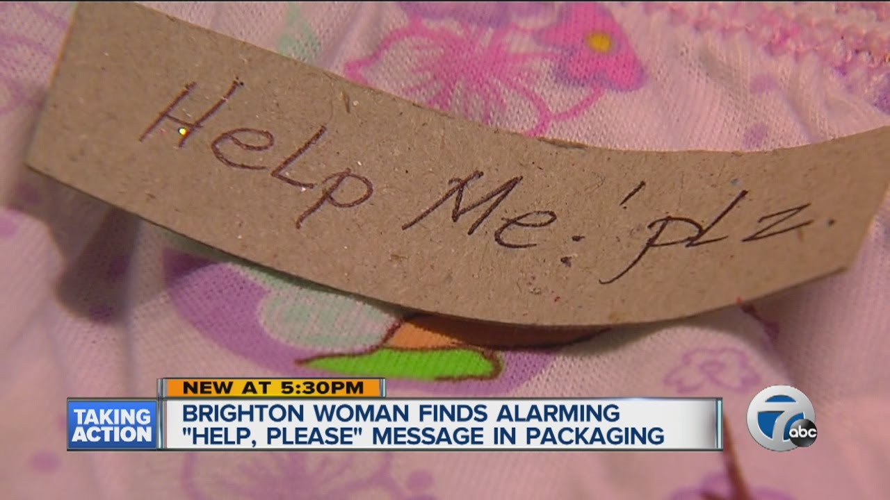 """Download Woman finds """"Help Me""""note in underwear package"""