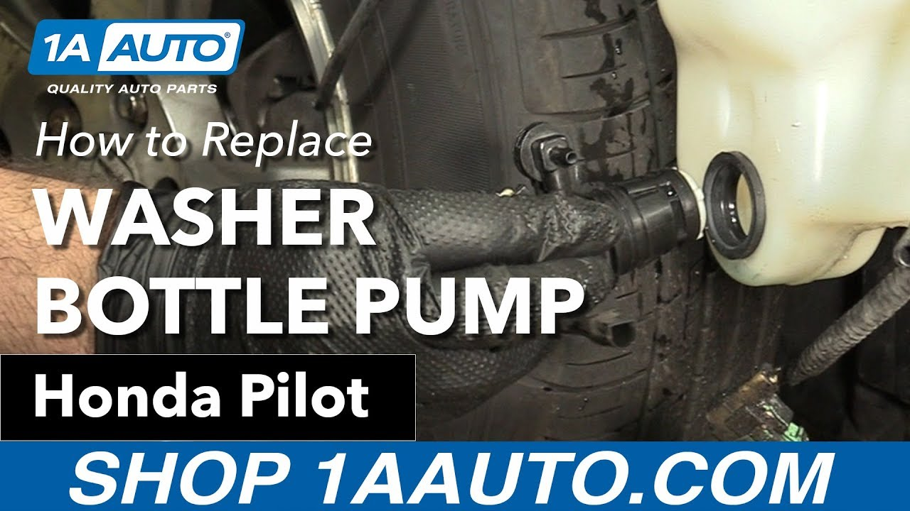 hight resolution of how to replace washer pump 2007 honda pilot