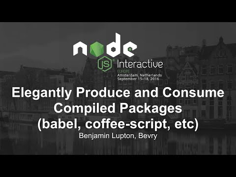Elegantly Produce and Consume Compiled Packages (babel, coffee-script, etc) - Benjamin Lupton, Bevry