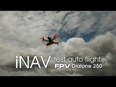 iNAV auto flight on Diatone 250 FPV drone.
