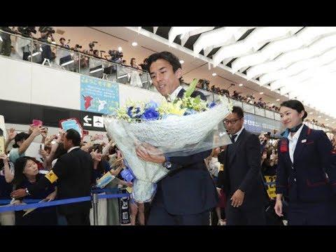 サッカー日本代表が帰国