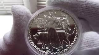 Серебряная монета Британия 2001 г.