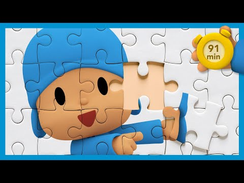 🧩 POCOYO AND NINA - Puzzles Day [91 minutes]   ANIMATED CARTOON for Children   FULL episodes