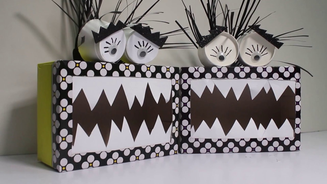 Diy Monster Crafts For Kids How To Recycle Tissue Box