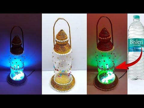 DIY -New Design Lantern/Tealight Holder from Waste plastic bottle   DIY Home Decorations Idea