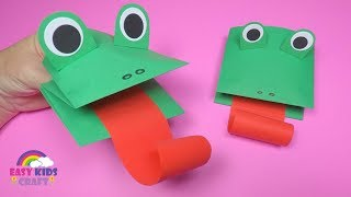 How to Make a Paper Frog Puppet | Fun Paper Crafts