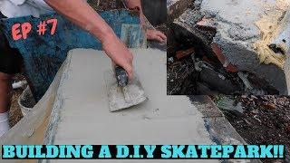 BUILDING A D.I.Y SKATEPARK #7