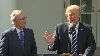 President Trump Meets with Sen. Mitch McConnell-ENN 2017-10-16