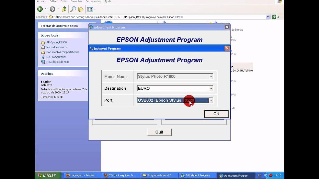 Epson r1800 adjustment program download