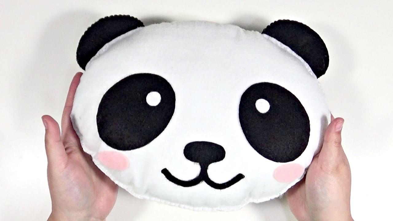 DIY Kawaii Peluche Cojín de Panda con fieltro FÁCIL - YouTube