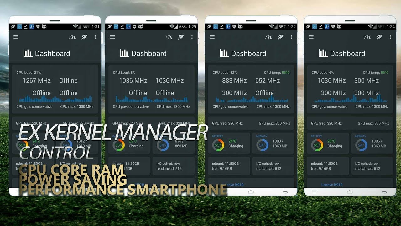 EX Kernel Manager control hardware and CPU Android Smartphone