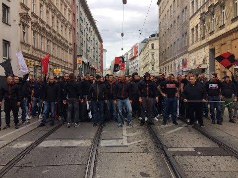 Curva Sud in trasferta a Vienna