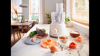 PHILIPS FOOD PROCESSOR HR7320/01 DAILY COLLECTION WITH BLENDER   UNBOXING AND TRIAL محضر الطعام