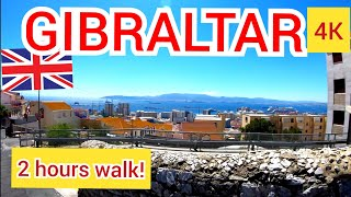 ⁴ᴷ GIBRALTAR walking tour, British overseas territory, United Kingdom 🇬🇧 4K
