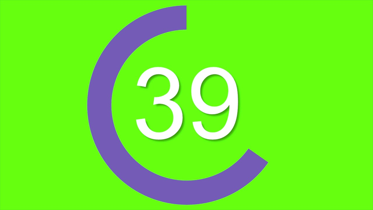 CIRCULAR COUNTDOWN TIMER GREENSCREEN 60 SECONDS + FREE DOWNLOAD