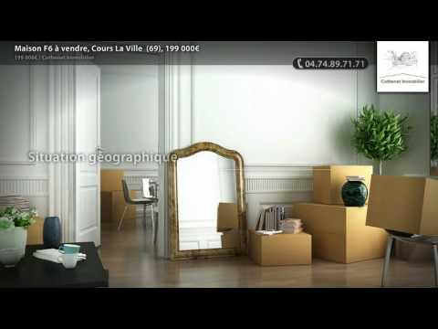 Maison F6 à vendre, Cours La Ville  (69), 199 000€