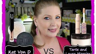 Makeup battles - Kat Von D vs Tarte Shape Tape and Laura Mercier