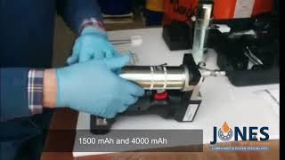 Mato Cordless grease gขn in action with Doost grease gun coupler