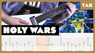 Holy Wars… The Punishment Due Megadeth Cover | Guitar Tab | Lesson | Tutorial