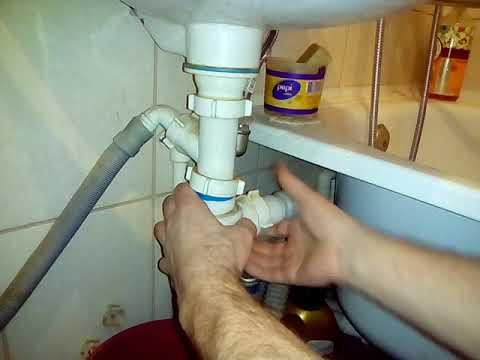 Как прочистить сифон для раковины.