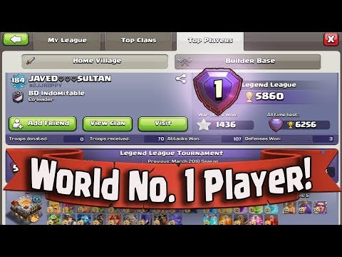 WORLD TOP NO.1 PLAYER ATTACK | QUEEN WALK BOWITCH NEW ATTACK Best Attack Strategy In COC (part-1)