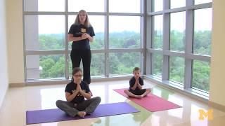 Yoga for kids (Camp Little Victors 2013)