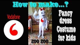 How to make/ Vodafone zoo zoo /advertisement theme / fancy dress costume/DIY/ kids