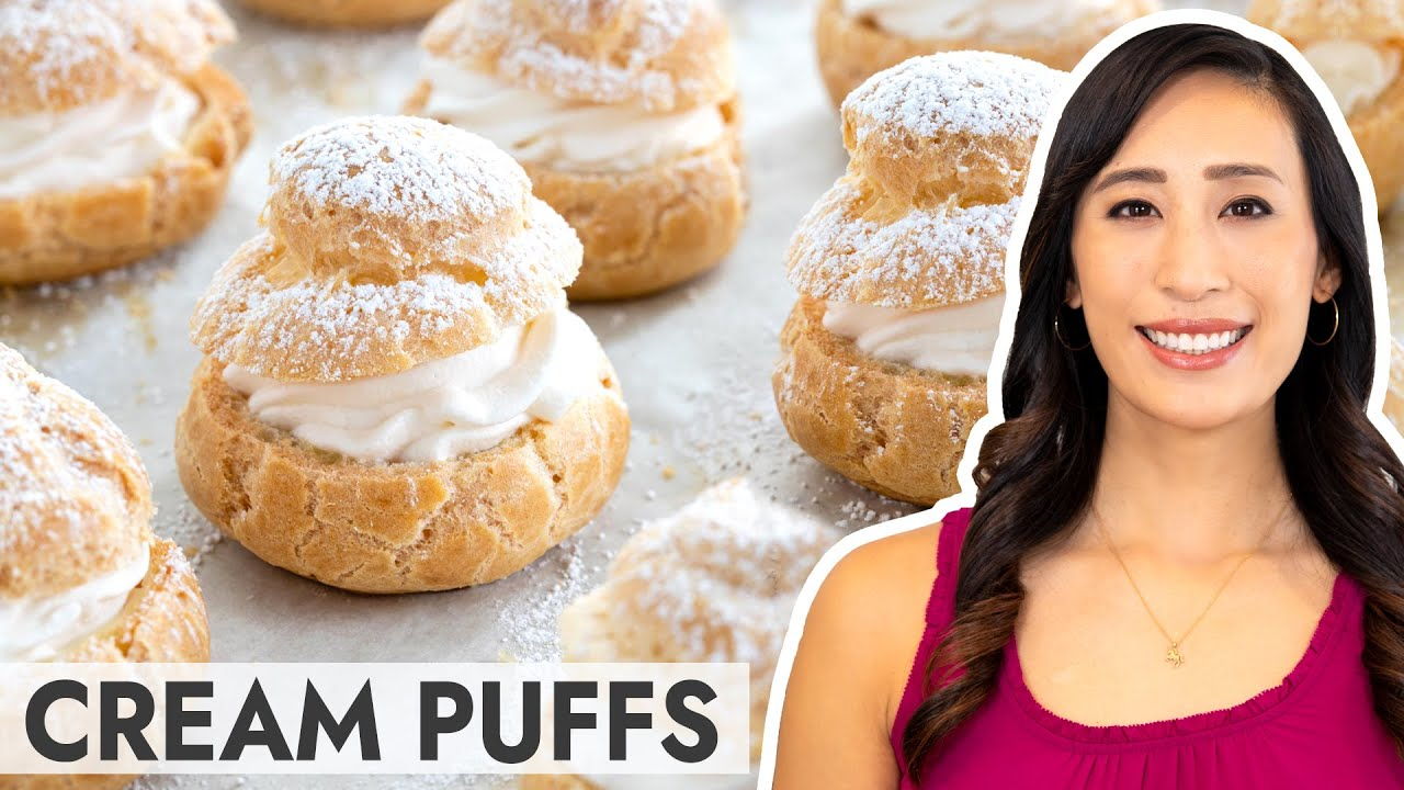 Homemade Cream Puffs using a Classic Choux Pastry