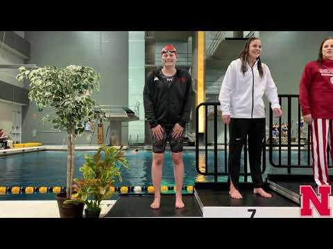 Nebraska Swim and Dive at the 2020 Big Ten Championships Day 2