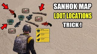 PUBG MOBILE BEST LOOT LOCATIONS Where To Find The Best loot On Sanhok Map ! YOU MISS IT ?