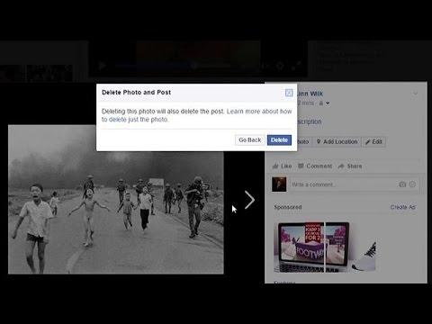 """Facebook gibt im Streit um """"Napalm-Mädchen"""" nach"""